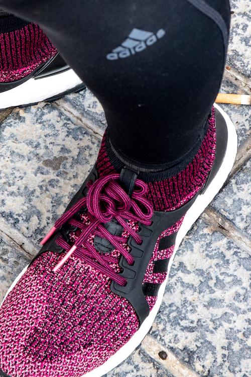 Zoom auf Adidas Laufschuh