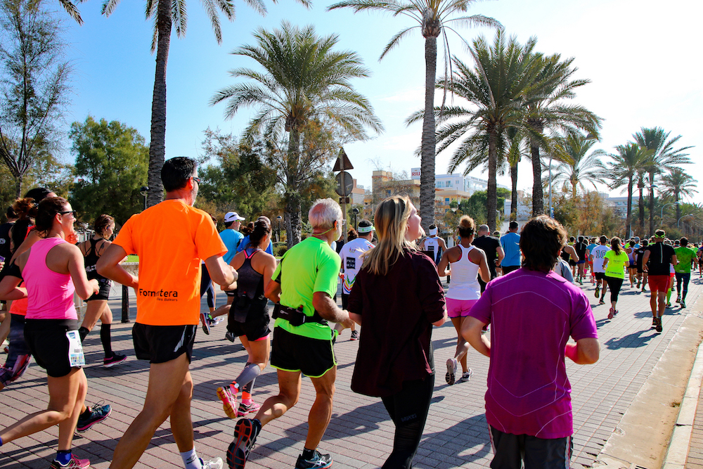 Laura beim Palma Beach 10 Kilometer Lauf