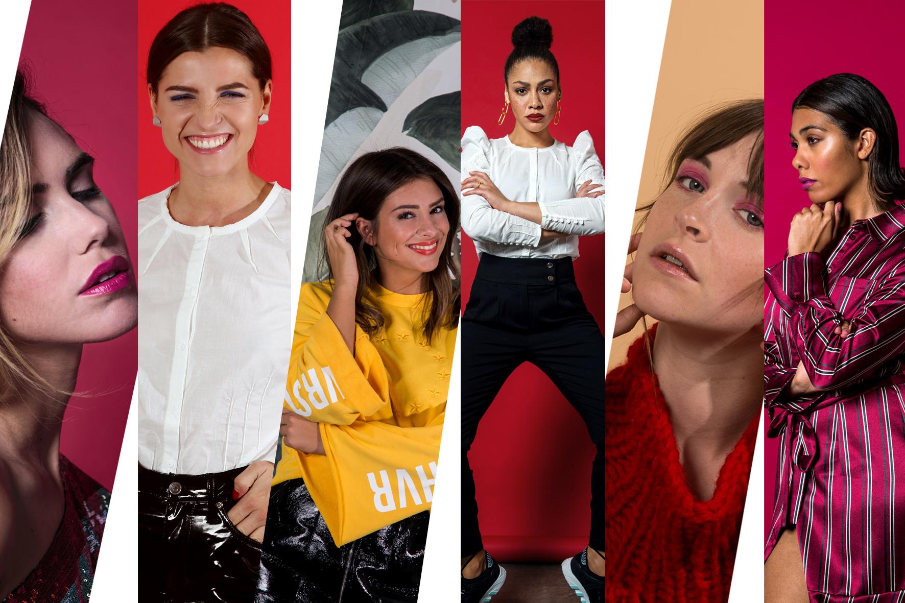Bild aller 6 Influencermädchen die für uns die Strecke Strong Women & Free Minds geshootet haben