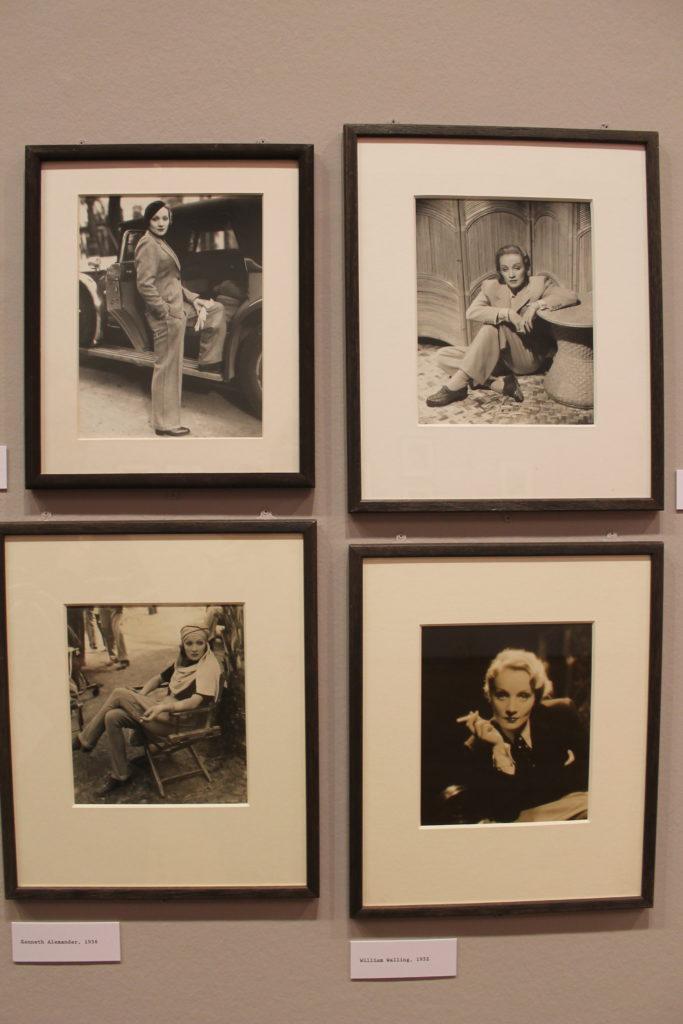 Bilder von Marlene Dietrich in der Ausstellung in Paris