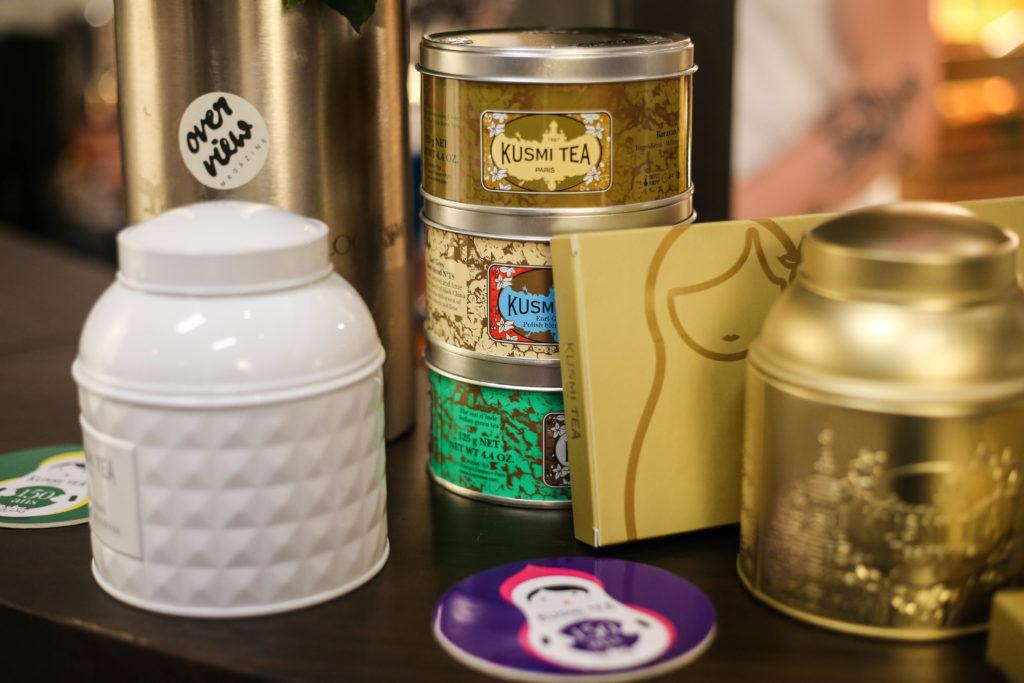 Kusmi Tea beim Launch Event von Overview Magazine