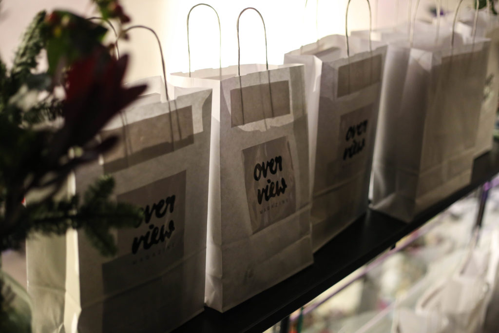 Goodiebags vom Overview Magazine Launch Event
