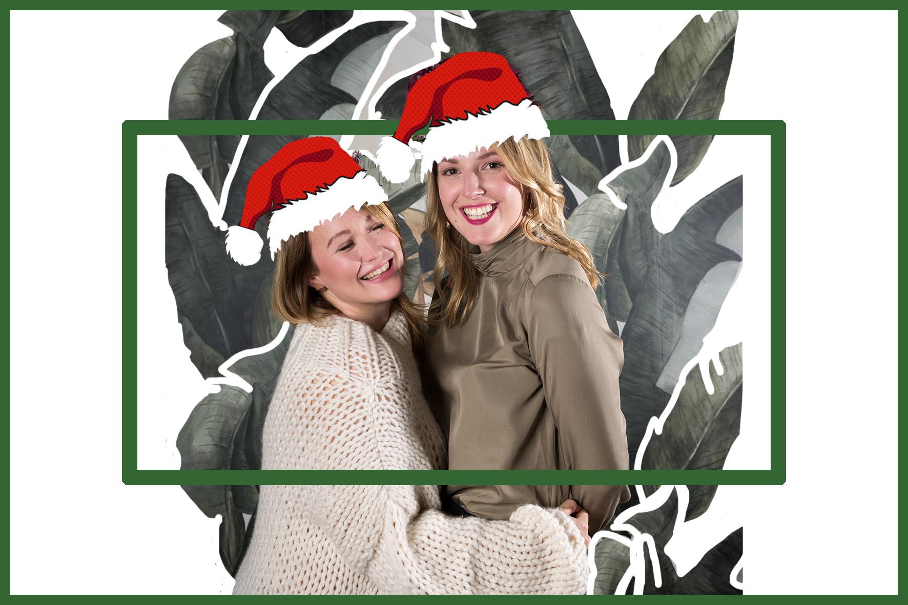Eine weihnachtliche Collage von laura und Jen