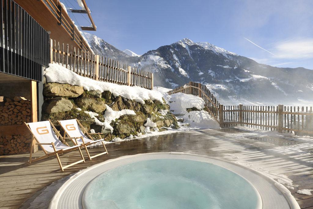 Hotel Das Goldberg in Bad Hofgastein in Österreich, Wellnessbereich Jacuzzi