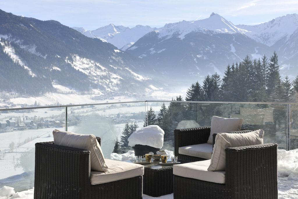 Hotel Das Goldberg in Bad Hofgastein in Österreich, Terrasse