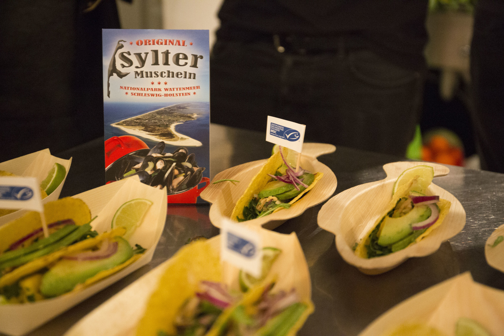 Sylter Muschel Ceviche im Taco
