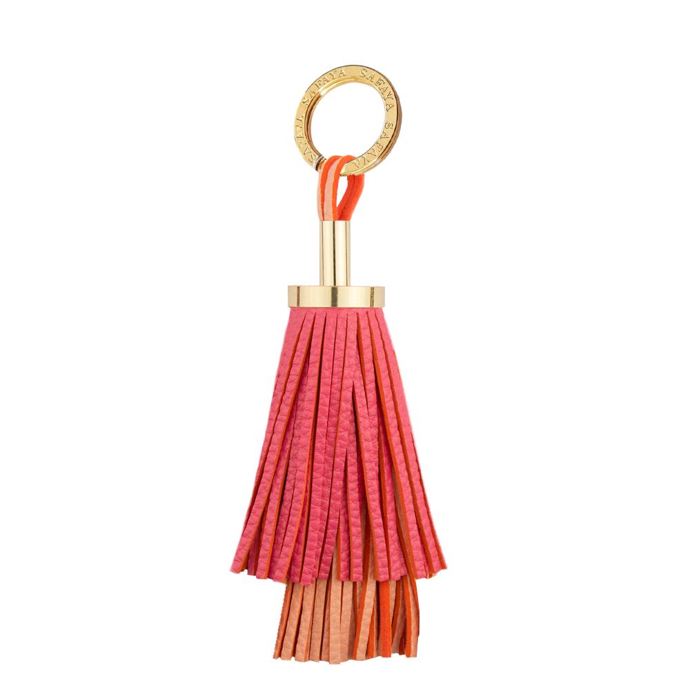 Pfefferspray als Schlüsselanhänger in rot orange gold
