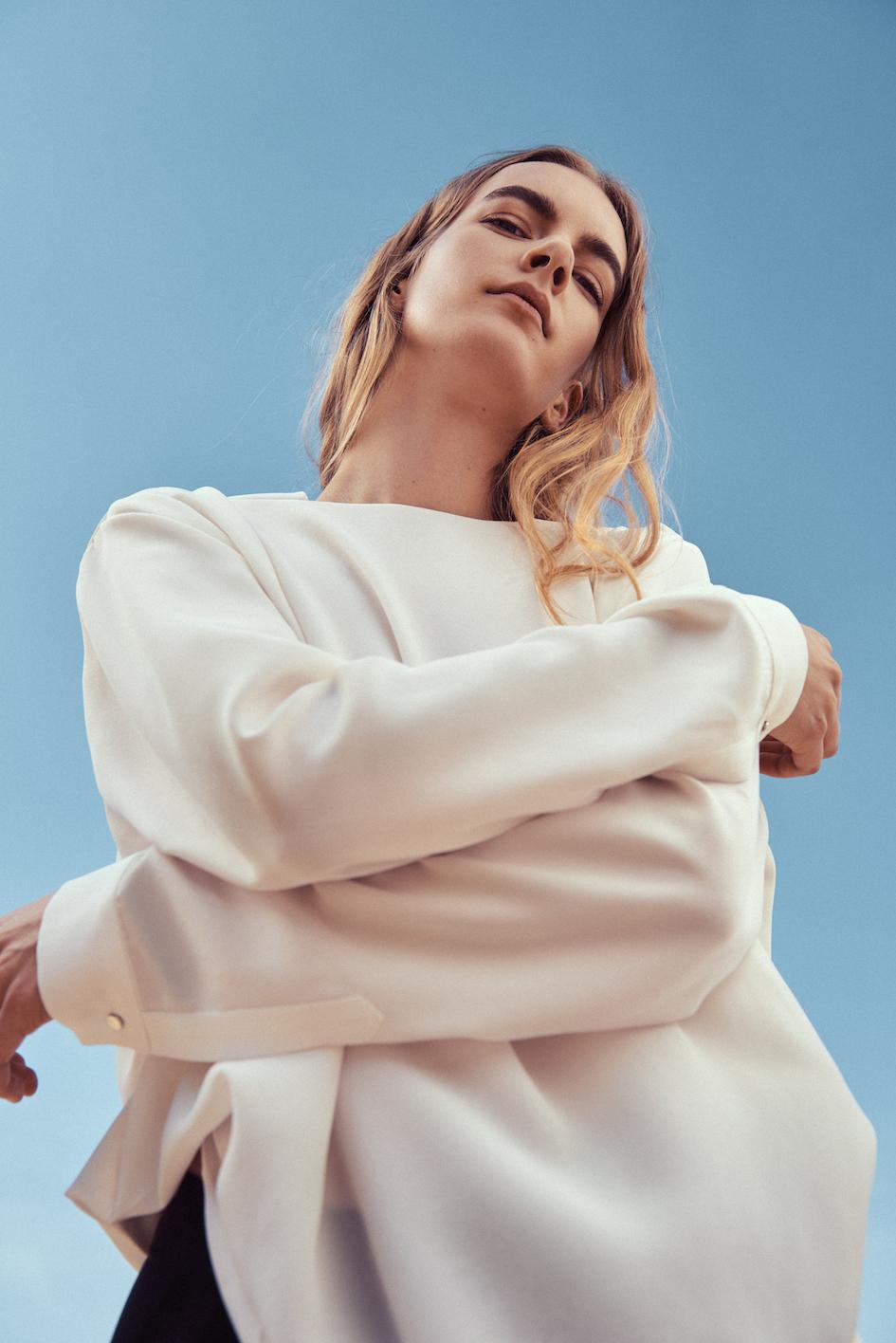 Marina Schwan Bluse Amy. Die Blusen haben eine besondere Eleganz.