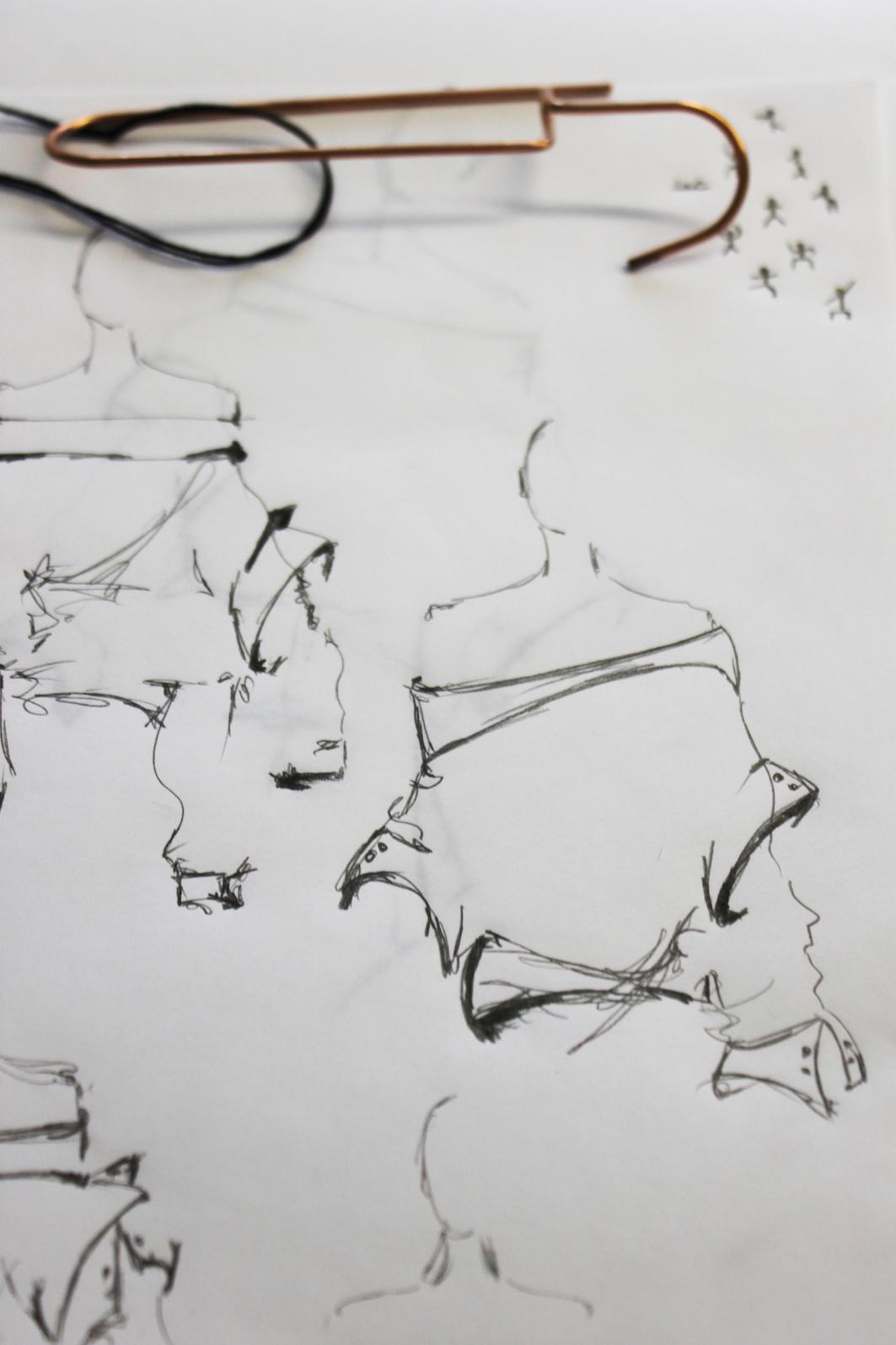 Marina Schwan Modezeichnungen