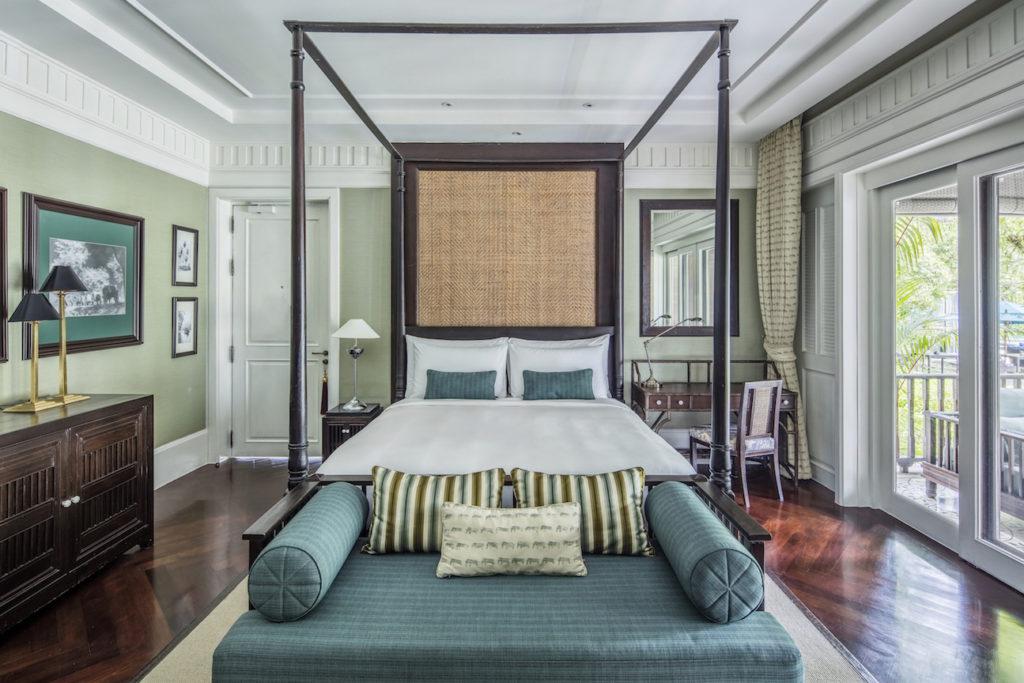 Hotel Suite blau grün klassisch Englisch