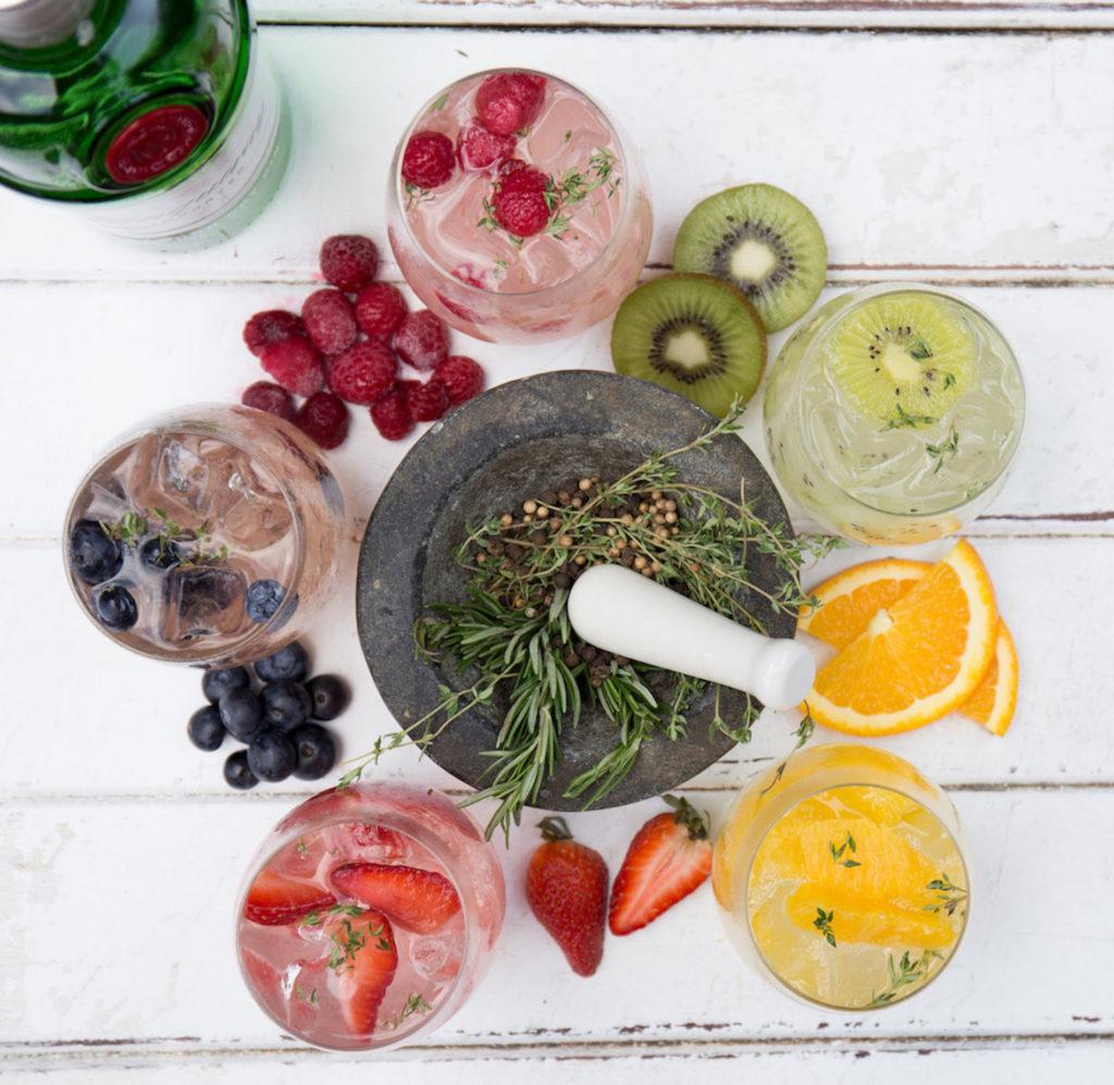 Ein Bild von Sommer Cocktails mit Gin