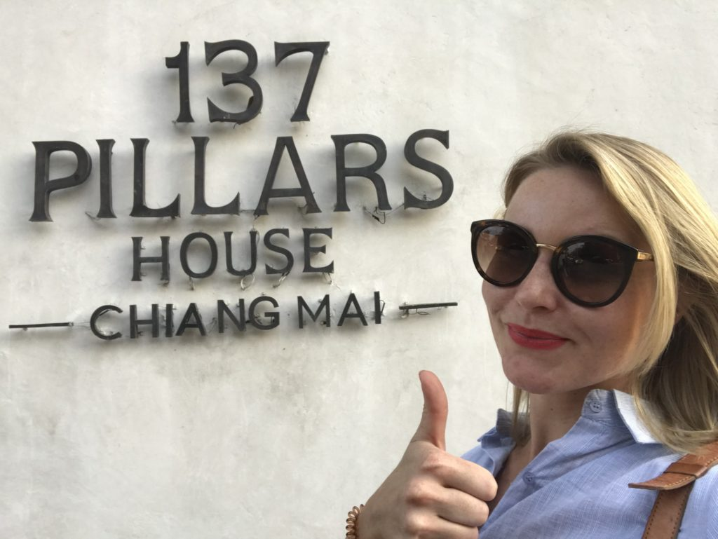 Eingang des Hotels in Chiang Mai Thailand