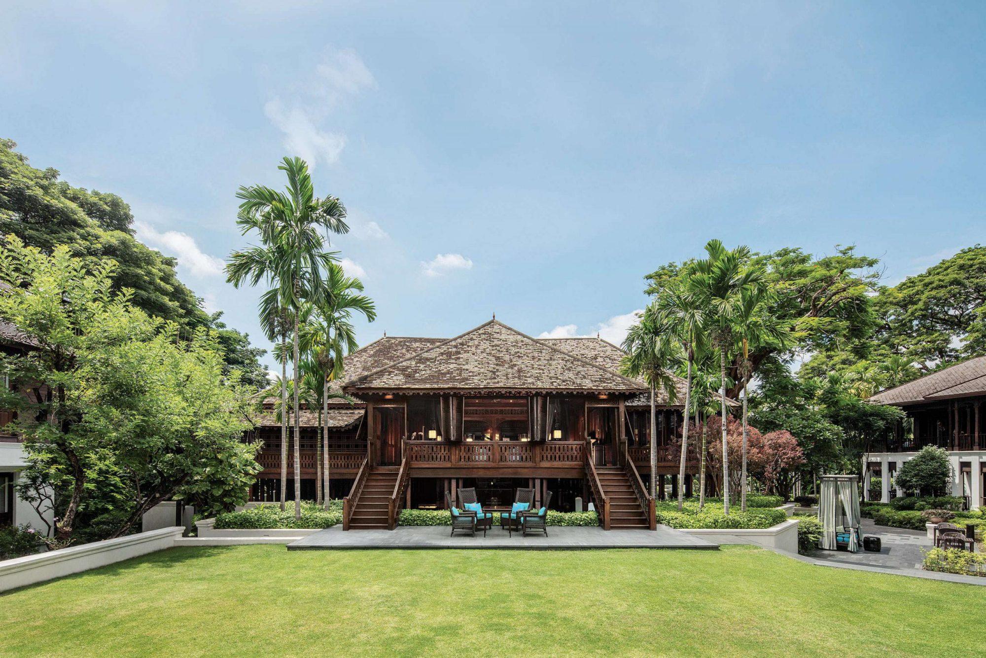 Das Haupthaus des Hotels in Chiang Mai, Thailand