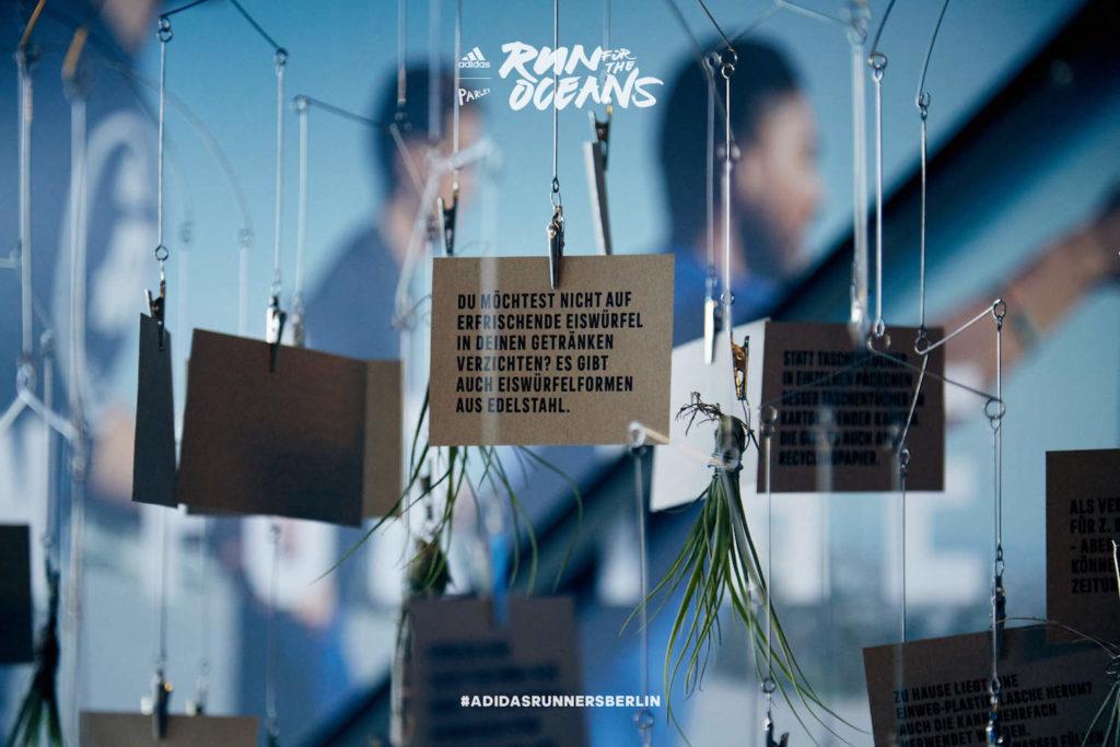 Der Run for the Oceans von adidas x Parley in Berlin. Im Bild Installation in der adidas Runbase.