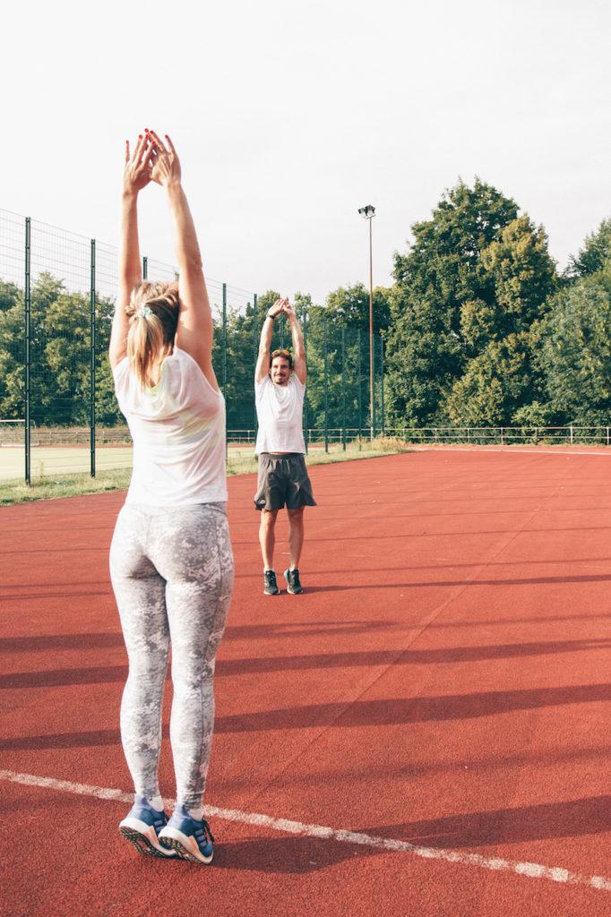 Lauftraining Stretchen lang machen