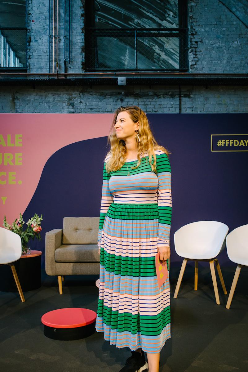 Vanessa Wohlert auf der Buehne des FFF Day