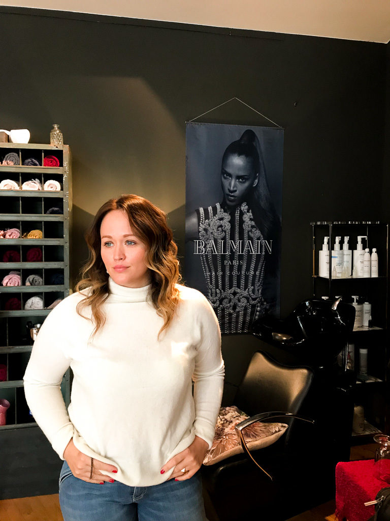 Jen getsylt von Dominik Keller in Dodo's Blow Dry Bar.