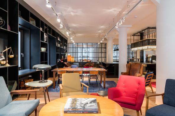 Gemeinschaftszimmer Lounge des Ruby Hans Workspaces Hamburg