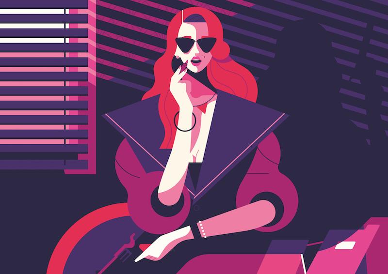 Die Illustration The Femme Fatale von Owen Davey für IC Berlin.