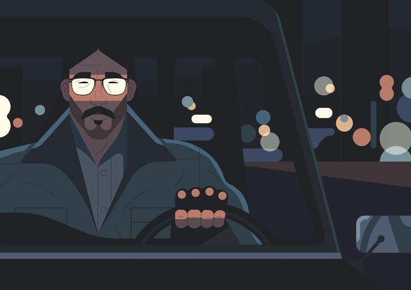 Die Illustration The Lone Wolf von Owen Davey für IC Berlin.