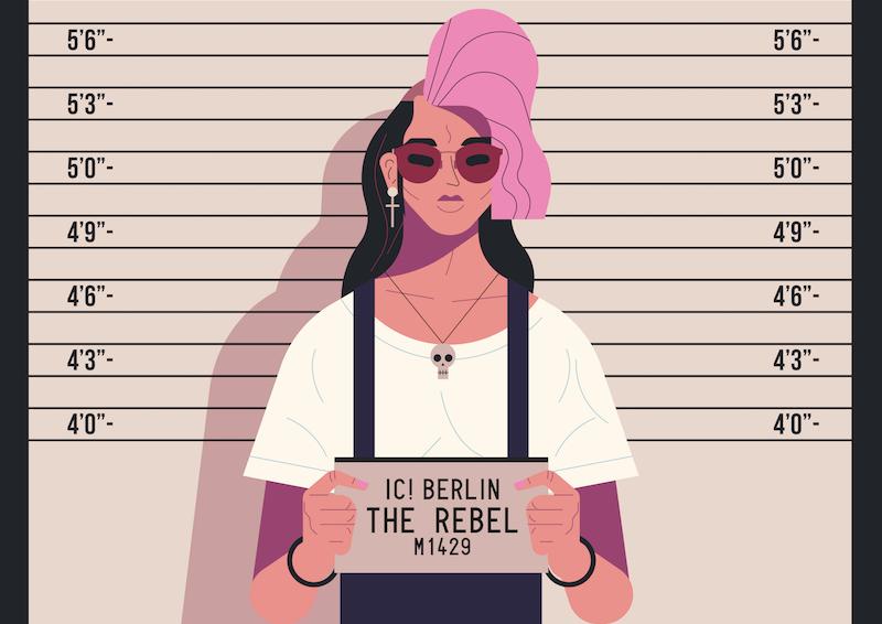 Die Illustration The Rebel von Owen Davey für IC Berlin.