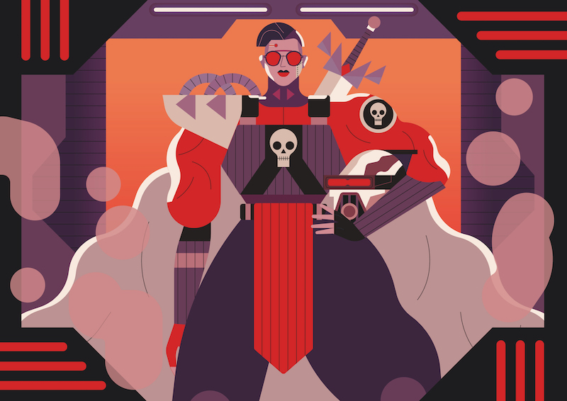Die Illustration The Supervillain von Owen Davey für IC Berlin.
