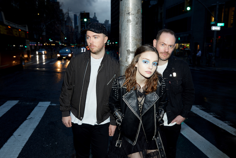 Die Band Chvrches mit Leadsängerin Lauren Mayberry