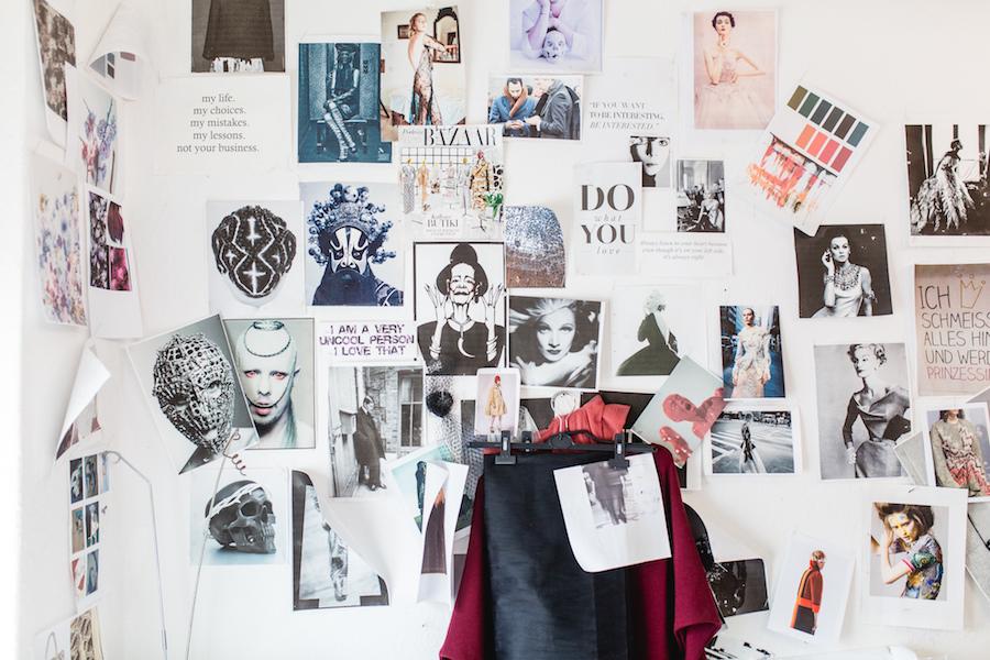 Bild vom Atelier von Mode-Designer Dawid Tomaszewski.