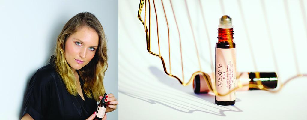 MERME Berlin Gruenderin Claire Ralston mit ihren Naturkosmetikprodukten