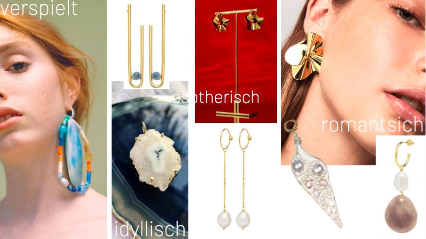 Eine Collage mit 5 verschiedenen Schmucklabels. Perfekte Ideen für tolle Geschenke.