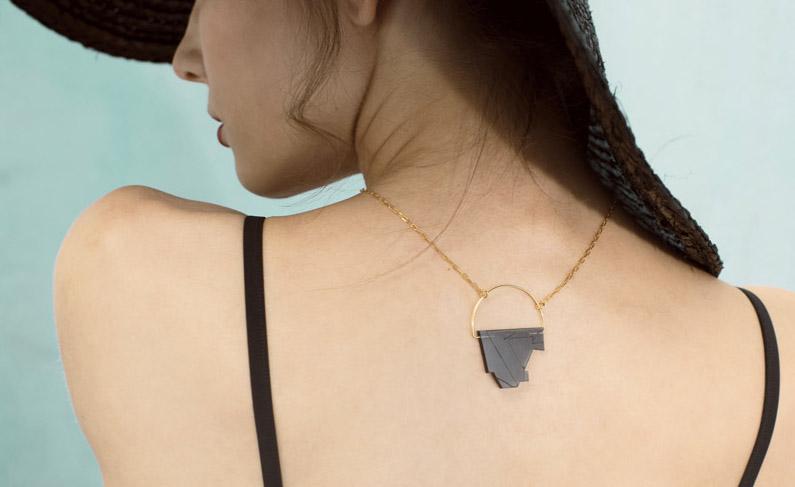 Die Neptun Necklace vom Schmucklabel Goldmarlen.