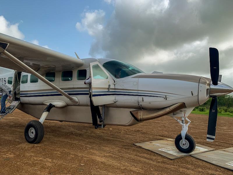 Unser Charterflugzeug auf der Safari in Tansania im Selous Game Reservat.