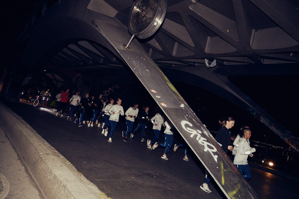 Sieben Kilometer Lauf bei Nacht