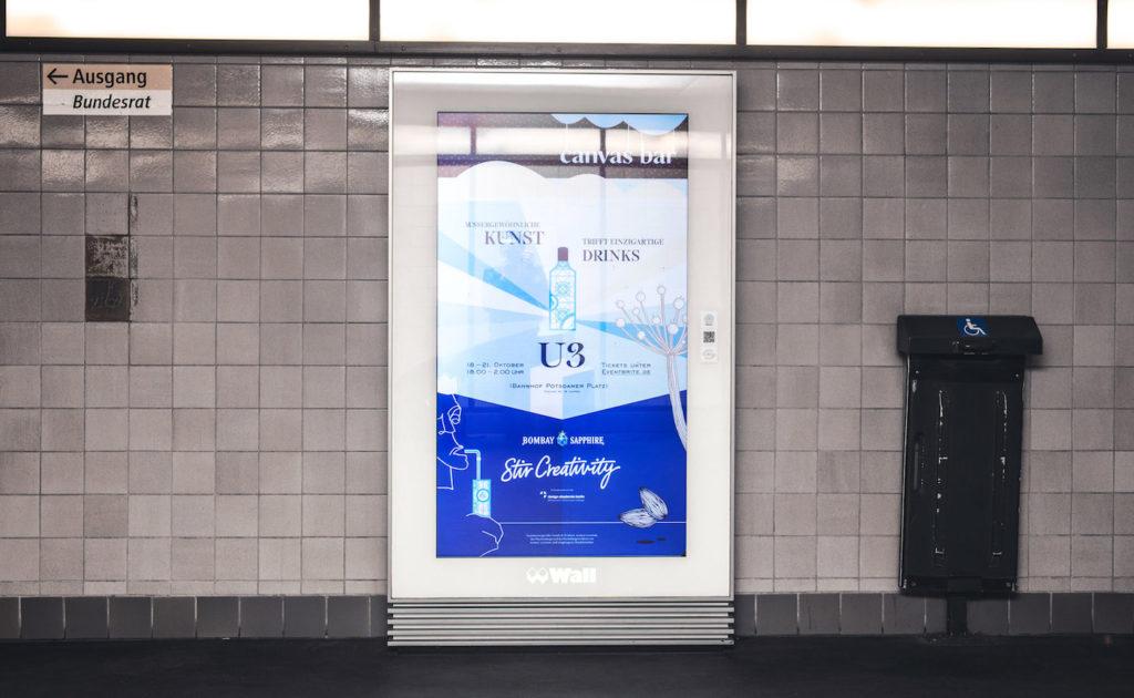 Das Corporate Design für Bombay Sapphire für die Canvas Bar 2018 von Darwin Stapel.
