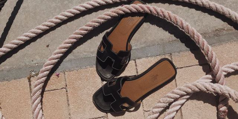 Sandale Sommerschuh von Hermes Oran