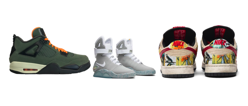 Teuerste Sneaker Nike Air Jordan Retro, Nike Mag Back to the Future, Nike Dunk