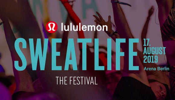 lululemon Sweatlife Festival Berlin am 17. August 2019