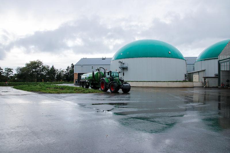 Die Biogasanlage in Évian les Bains.