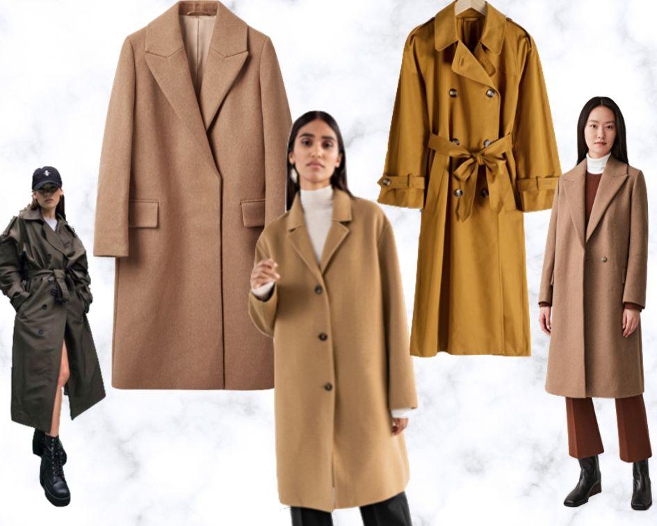 Herbststyles 2019 Mäntel und Jacken Trends Bekleidung Wollmäntel und Trenchcoats in Erdtönen