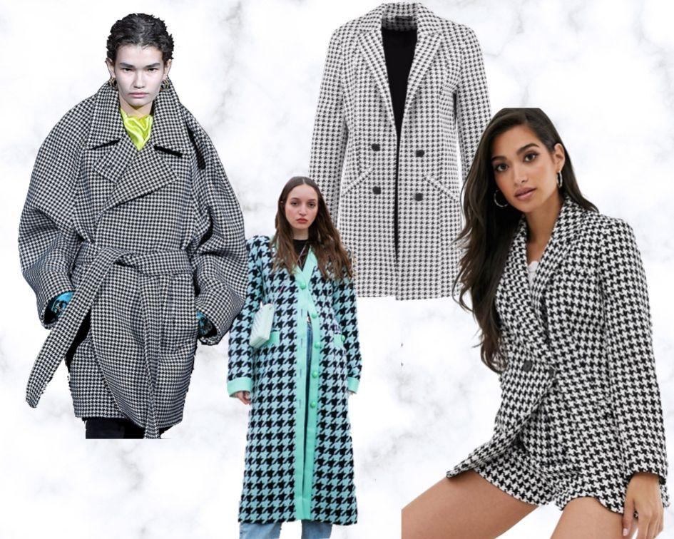 Herbststyles 2019 Mäntel und Jacken Trends Bekleidung Hahnentrittmuster Mäntel