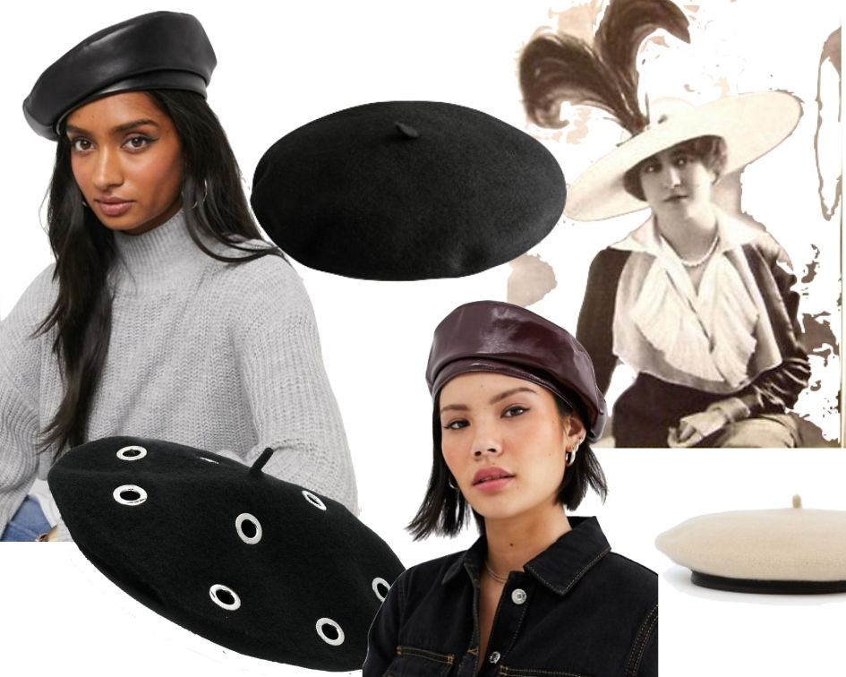 Herbsttrend 2019 Beret Mütze Baskenmütze French Look Collage