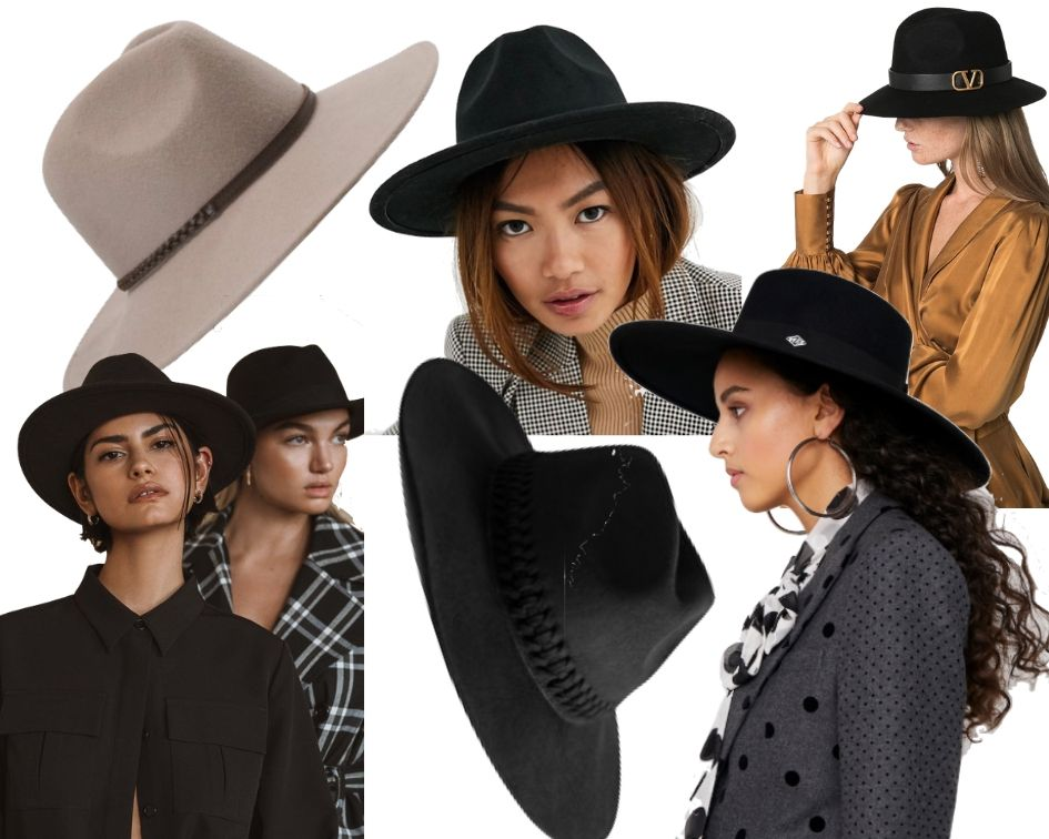 Herbsttrend 2019 Hut Fedora Collage