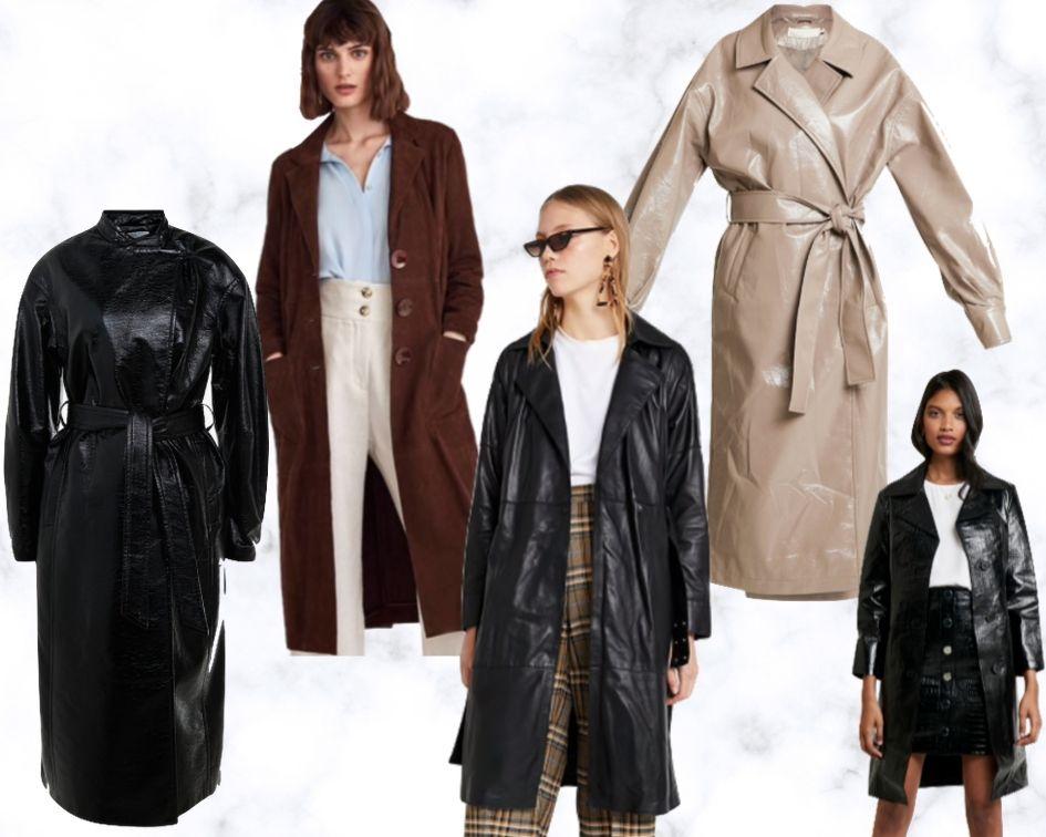 Herbststyles 2019 Mäntel und Jacken Trends Bekleidung Ledermantel