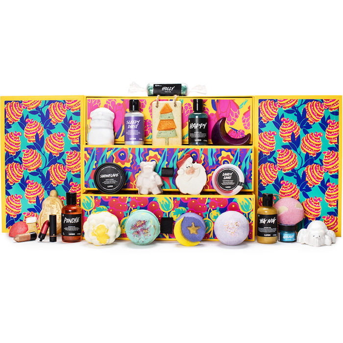 Der Lush Beauty Adventskalender 2019.