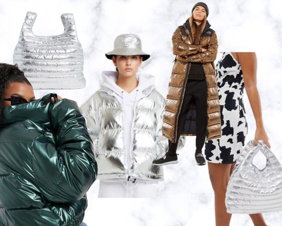 Herbststyles 2019 Mäntel und Jacken Trends Bekleidung metallic Farben Jacken Puffer Jacket