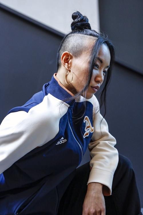 Portrait der Tänzerin und Breakletics® Coachs in der adidas Runbase Minh-Thu