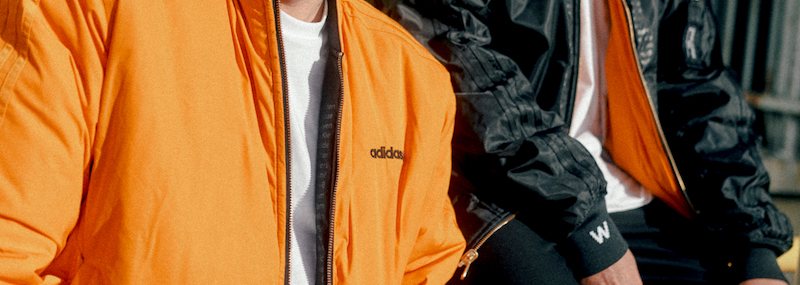 Die Wendejacke der adidas Originals Breaking Walls Kollektion