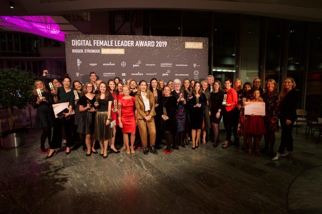 Die Preisträgerinnen des Digital Female Leader Award 2019 von Global Digital Women