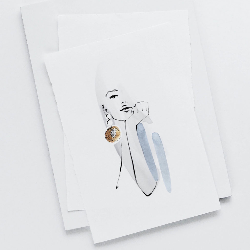 Modeillustratorin Nadine Batista Santos