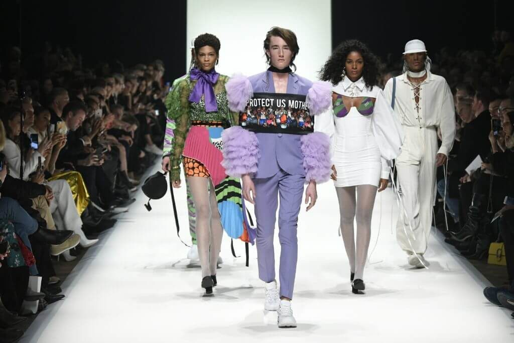 Fashion News mit Designer Rich Mnisi während der Mercedes-Benz Fashion Week in Berlin im Januar für Herbst/Winter 2020/2021